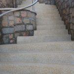 Piso Cimenticio - Escada em Fulget na cor palha. Florianópolis - SC.