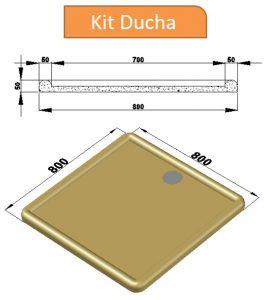 Kit Ducha - Linha de acessórios para piscinas PisoMix